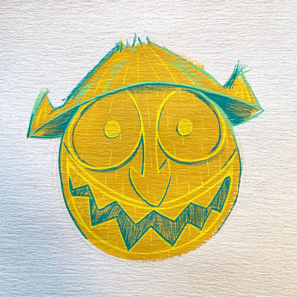 Wacky Tiki Head Painting