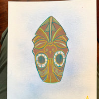 Husband Killer Tiki Head Painting