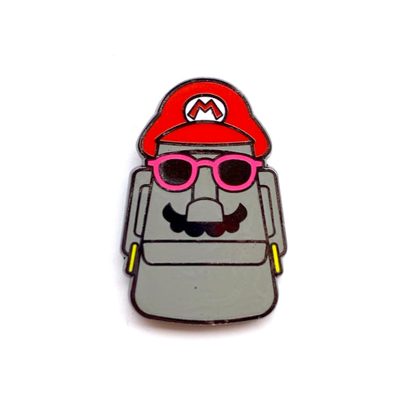 Super Moai Bros Red Mo Enamel Pins