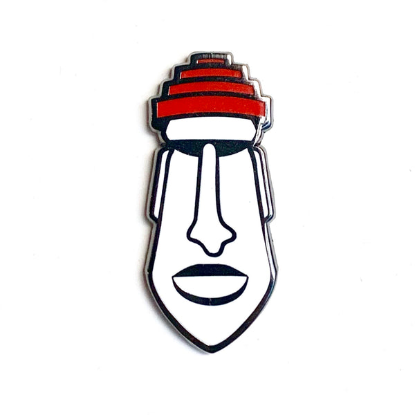 New Wave Moai Pin