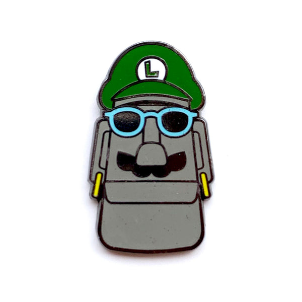 Super Moai Bros Green Mo Enamel Pins