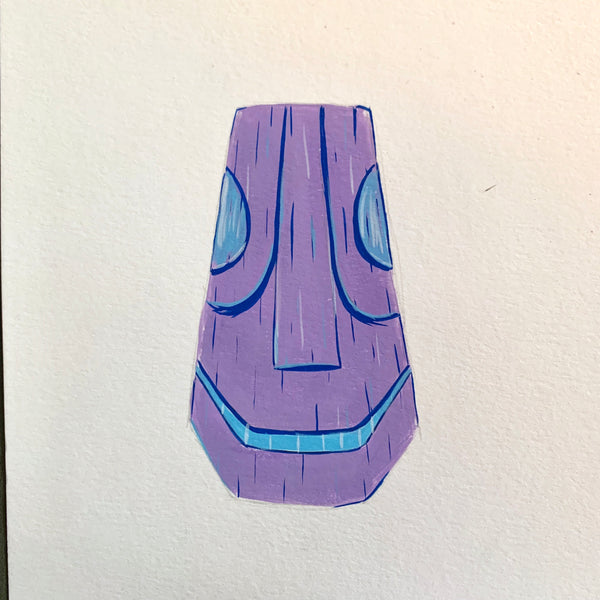 Groggy Tiki Head Painting