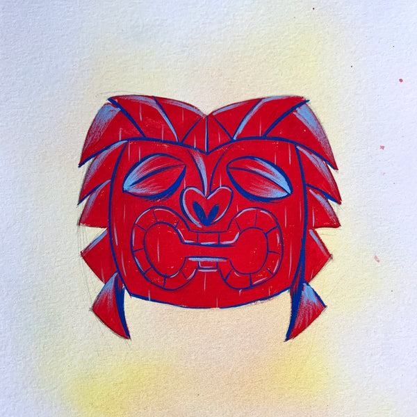 Ku Tiki Head Painting
