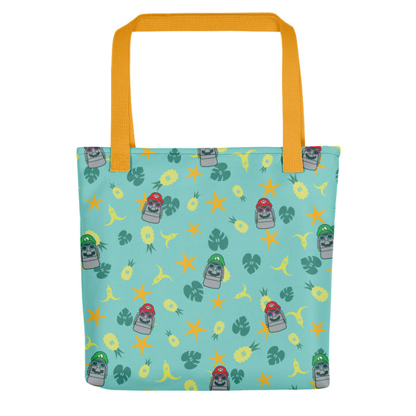 Super Moai Bros Aloha Tote Bag