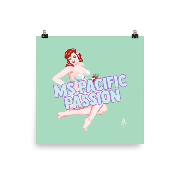 Ms. Pacific Passion Pin-Up Poster