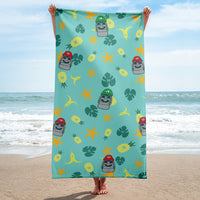 Super Moai Bros. Aloha Towel