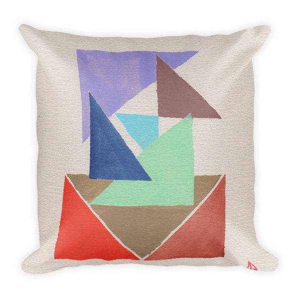 Mid-Century Angles & Blocks Pillow
