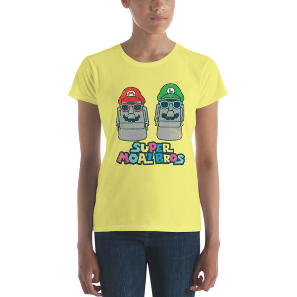 Super Moai Bros Fitted T-Shirt