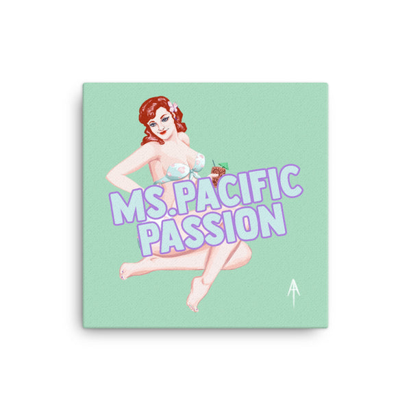 Ms. Pacific Passion Pin-Up Canvas Art