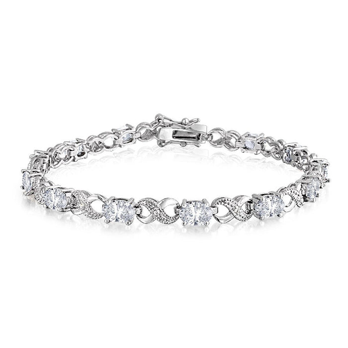 Vintage Oval CZ Bangle Wedding Gift