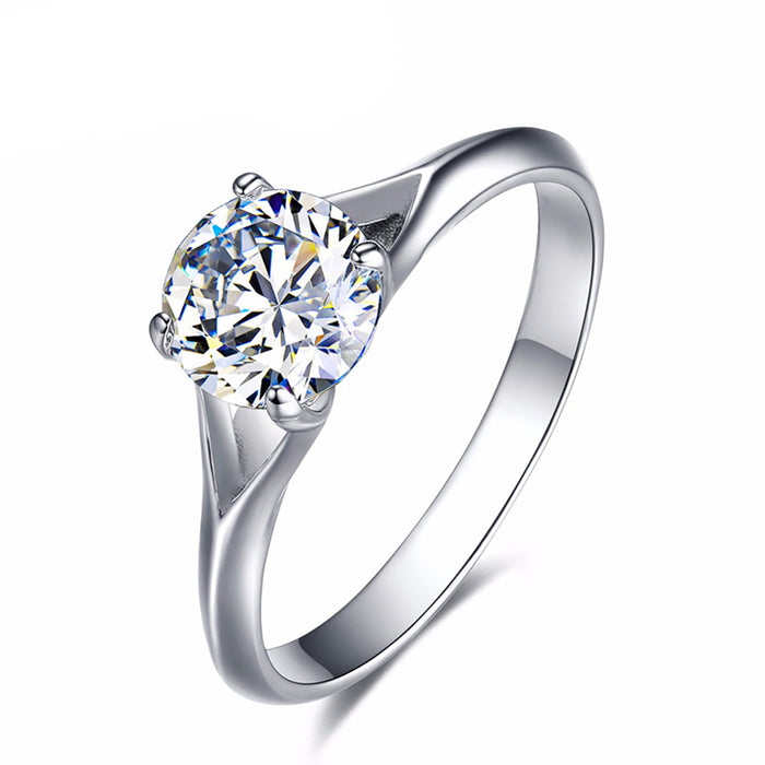 0.75Ct CZ Solitaire Engagement Ring