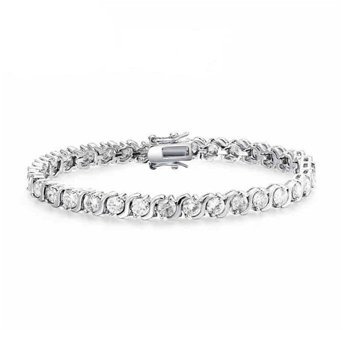 S Design 5mm Round CZ Bracelet
