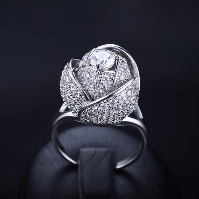 Rose Flower Luxury Ring