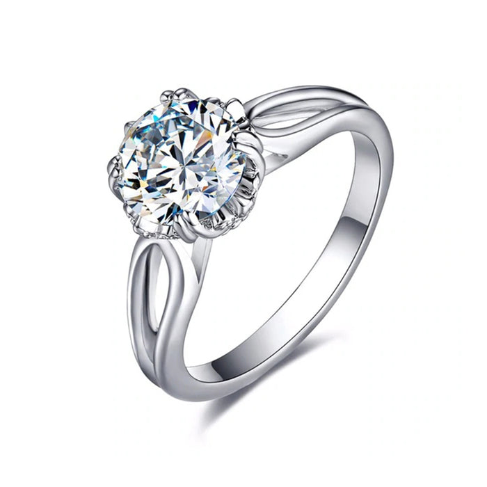 Solitaire CZ Engagement Ring