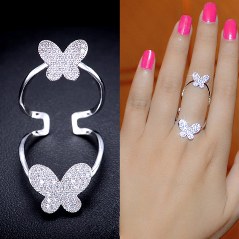Butterflies Full Finger Ring
