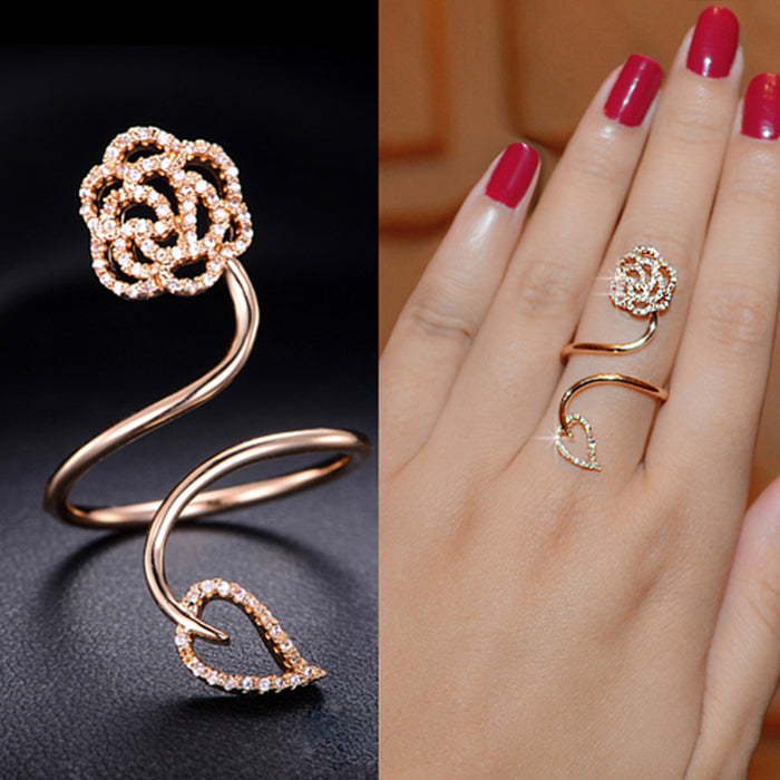 Spring Flower Full Finger Ring