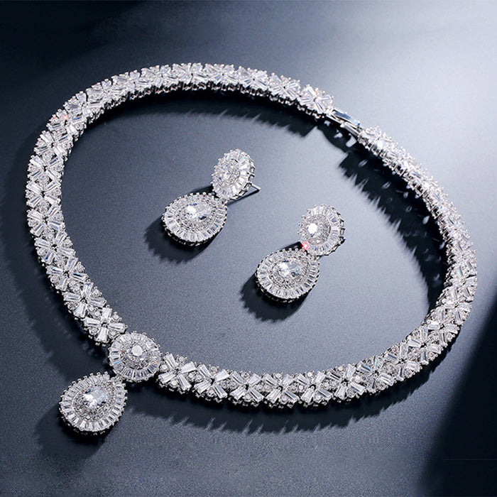Brilliant Baguette Vintage Wedding Jewelry Set