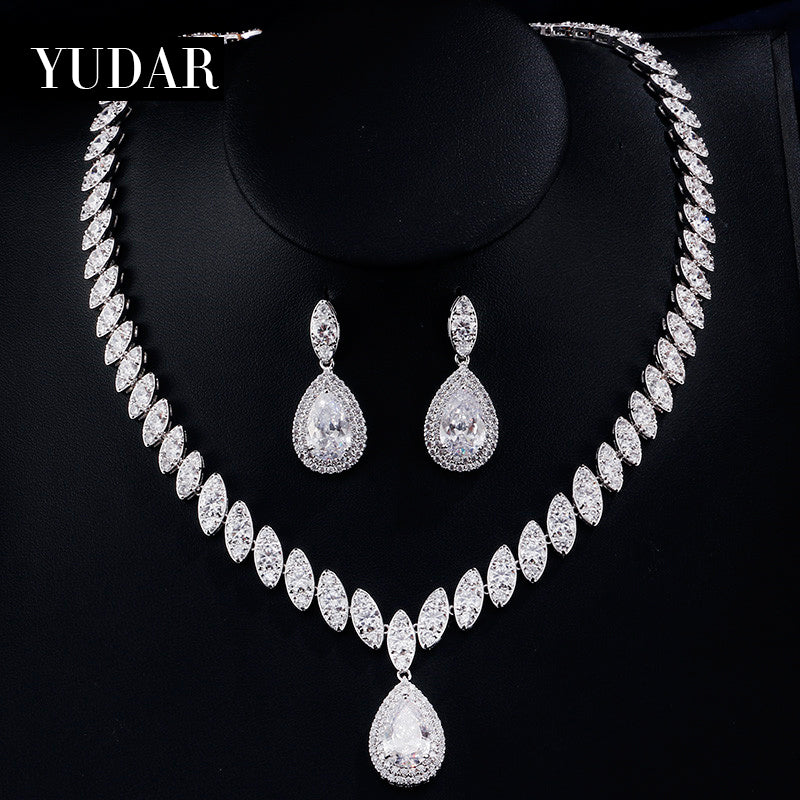 Marquise Teardrop CZ Bridal Jewelry Set
