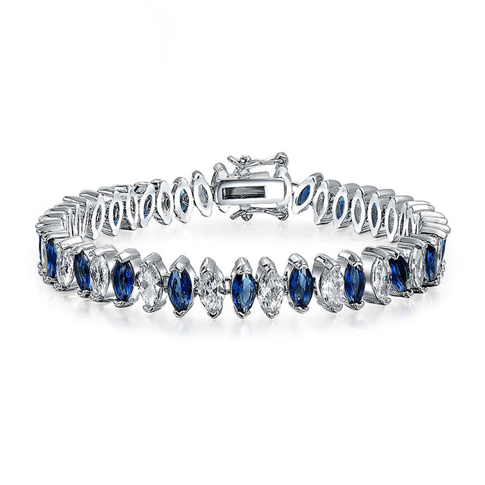 Sappire Clear Marquise CZ Tennis Bracelet