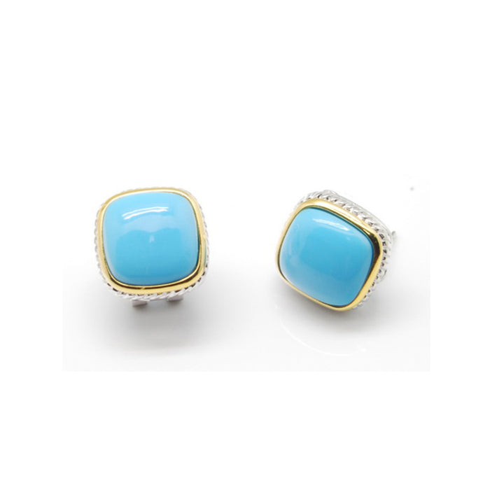 Cushion Turquoise Stud Earrings