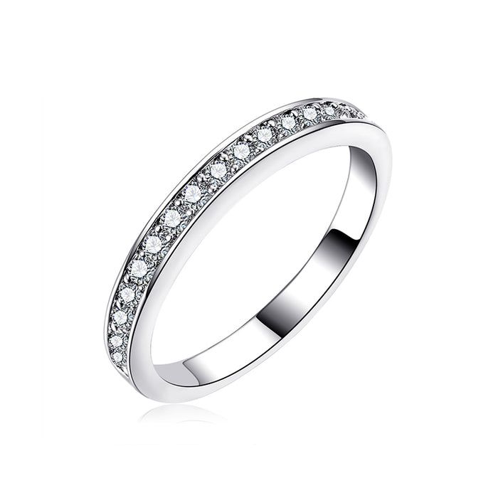 Pave CZ Engagement Band