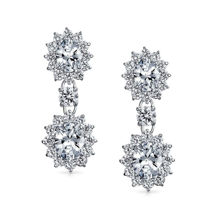 Sparkle Bloom Drop Earrings