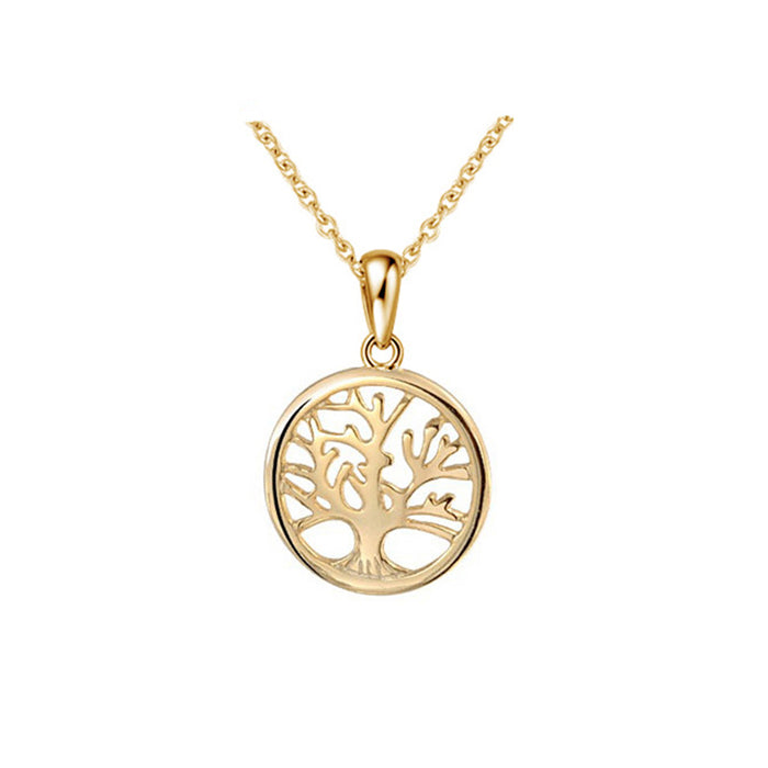 Family Tree Round Pendant Necklace