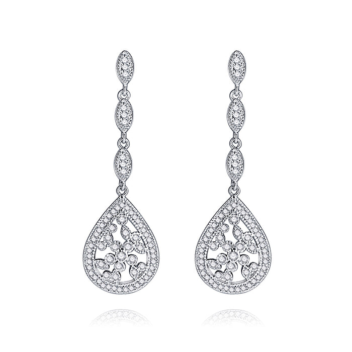 Art Deco Teardrop Chandelier Earrings