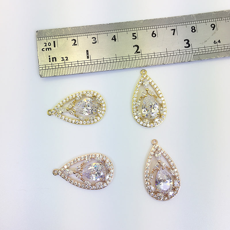 Plant Teardrop Bottom Parts Components for Earrings (6pcs/pack)