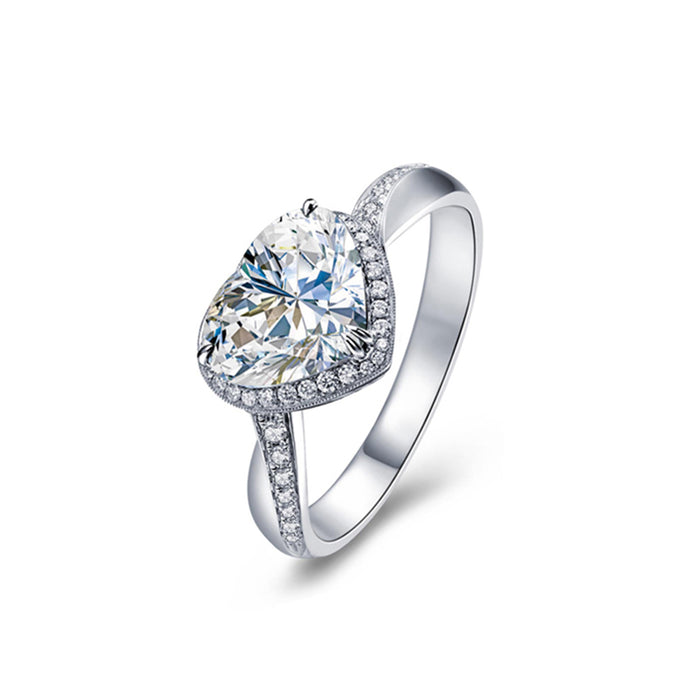 Heart CZ Engagement Ring