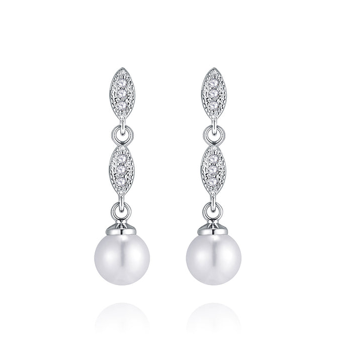 Marquise Pearl Dangle Earrings