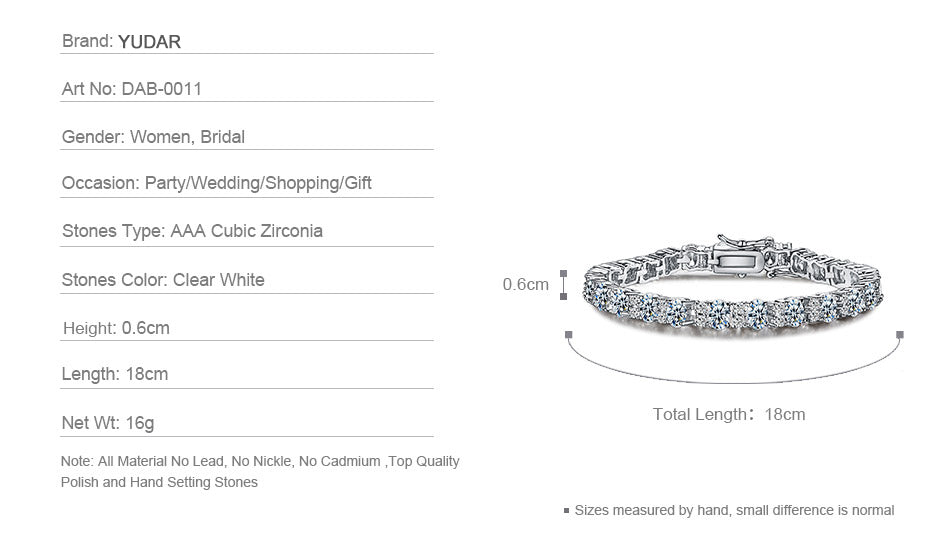 Oval Cubic Zirconia Bangle Wedding Gift