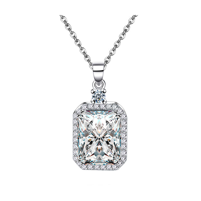 Princess Rectangle CZ Pendant Necklace