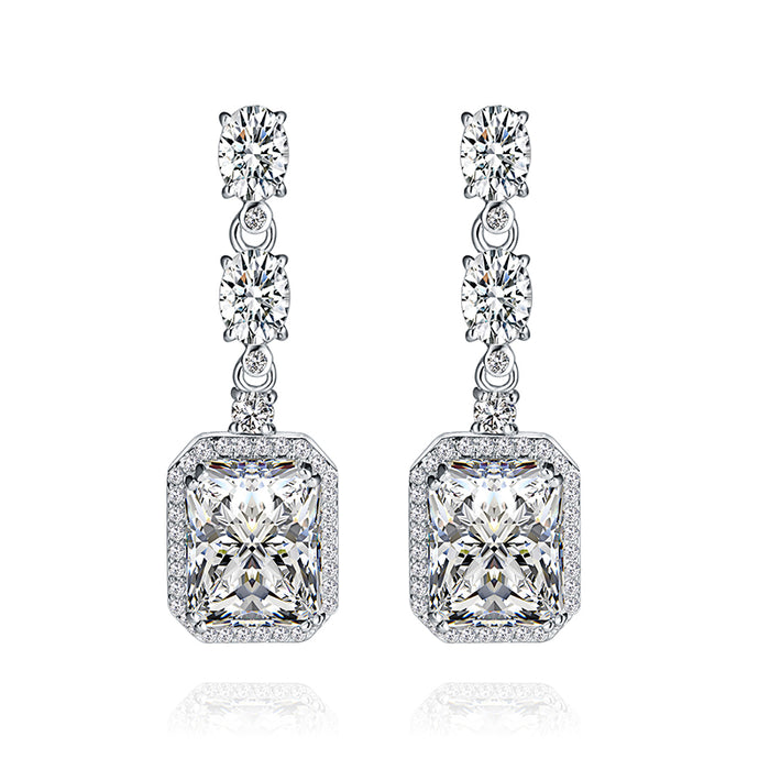 Princess CZ Chandelier Earrings