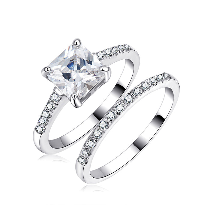 Shinning Bride Ring Set