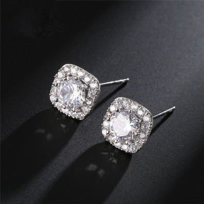 10mm Square Stud Earrings