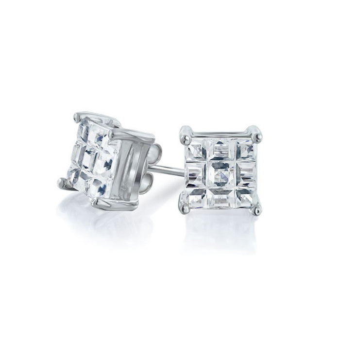 Squared Stud Earrings
