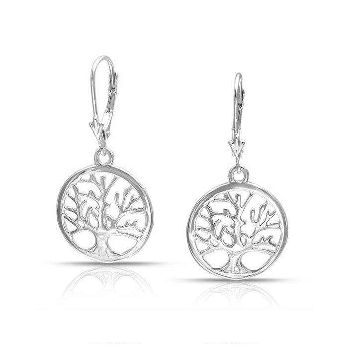Family Tree Leverback Earrings