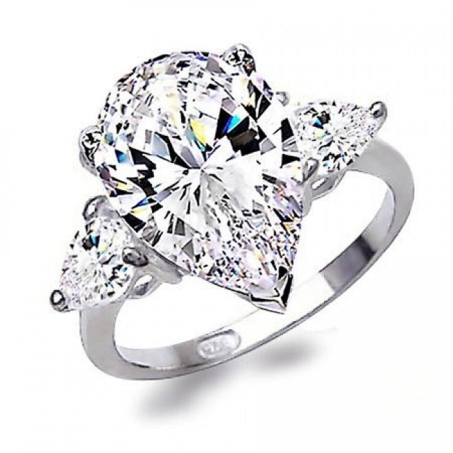 3 Pears CZ Promise Wedding Ring