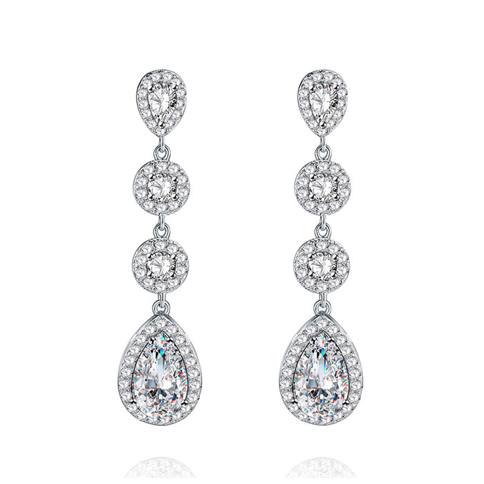 Round and Teardrop Chandelier Earrings