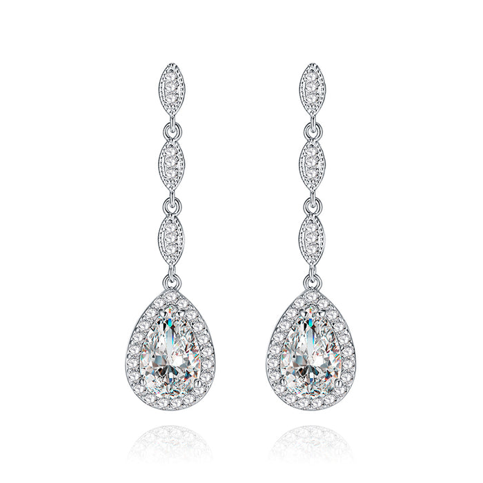 Marquise Teardrop Chandelier Earrings