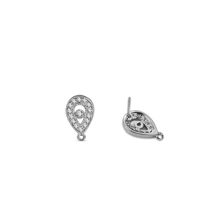 Teardrop Top Parts Components for Earrings (6pcs/pack)