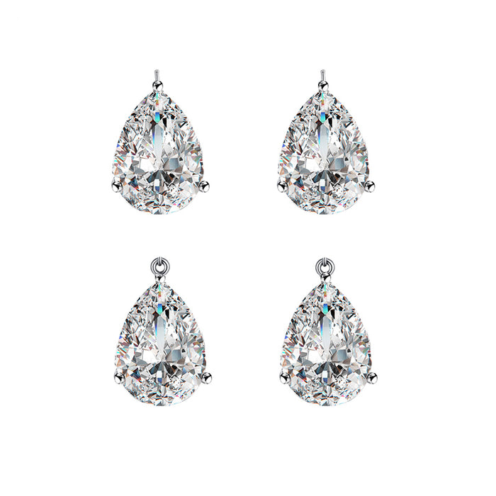 10*14mm Teardrop CZ Components (6pcs/pack)