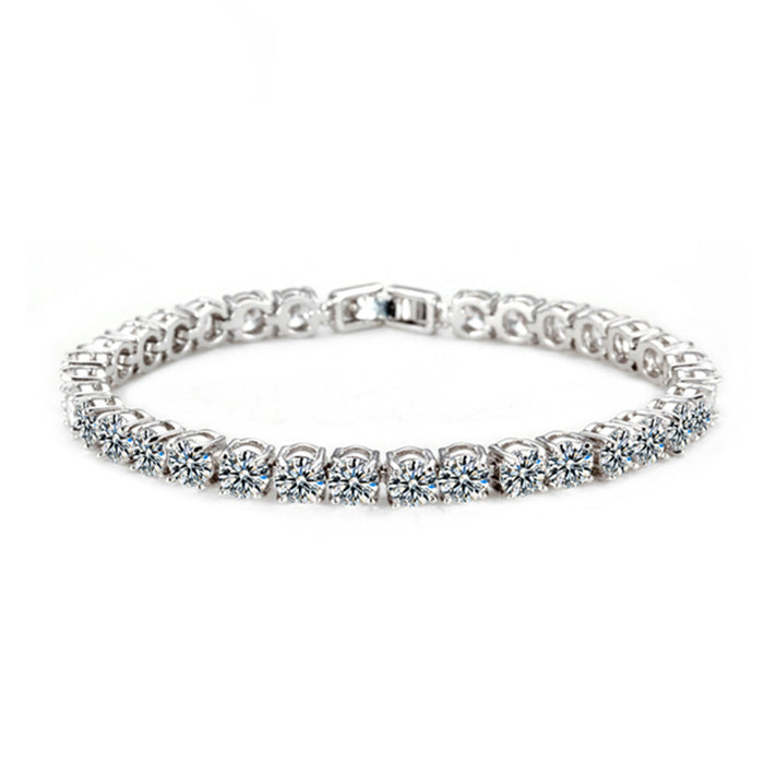 4mm Cubic Zirconia Tennis Bracelet