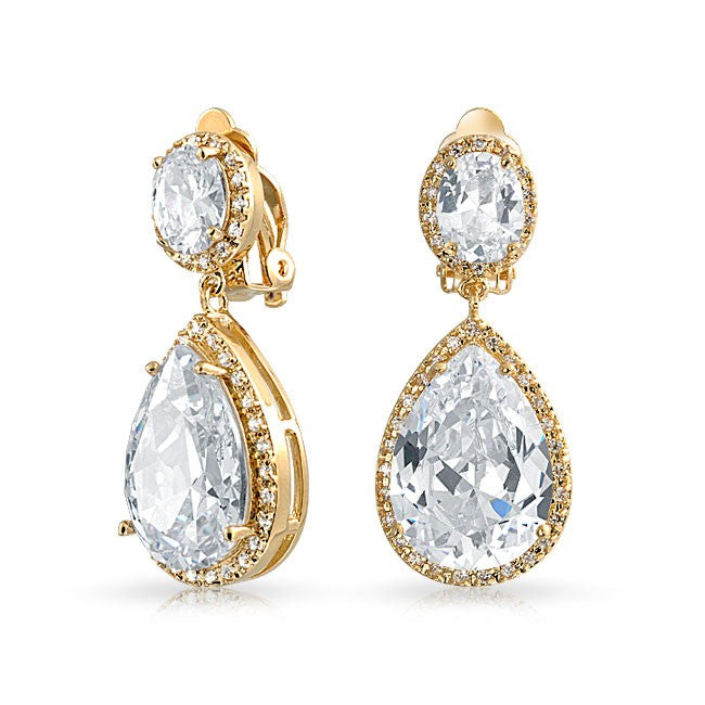 Grand Bijoux Clip On Earrings for Wedding