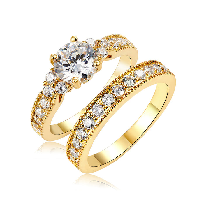 Luxury CZ Engagement Ring Set