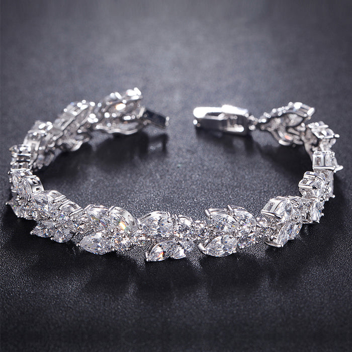 Cluster CZ Tennis Bracelet Wedding Gift