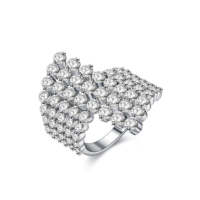 8 Rows CZ Cocktail Ring