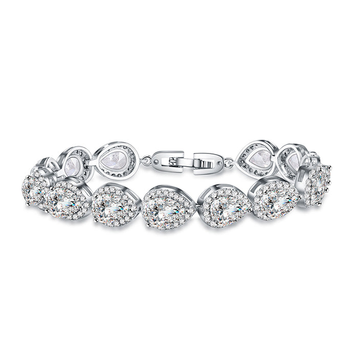 Teardrop CZ Tennis Bracelet Wedding Gift
