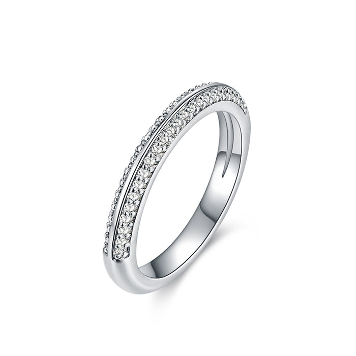 Two Rows Pave CZ Bands